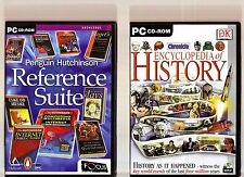 PENGUIN HUTCHINSON REFERENCE SUITE & ENCYCLOPEDIA OF HISTORY. PC EDUCATIONAL!!