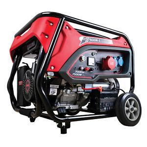 Benzin Stromerzeuger 3-Phasen Generator 7.5 kW Stromaggregat mit E-Start 380V