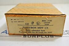 Bussmann FUSETRON MDV 1/4  Case of 100 dual element fuses NEW old stock