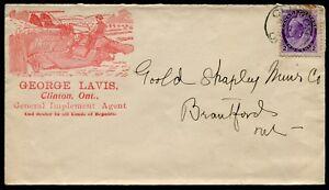 *p318 -  CLINTON Ont. 1899 Lavis Farming Equipment ILLUSTRATED Advertising Cover