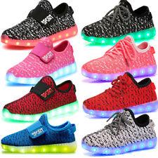 Rgb LED Luz Chicos Chicas Luminoso Usb Zapatillas Niños Niños Zapatos informales