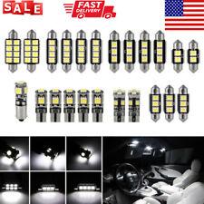 23 Pcs LED White Car Light Bulb Interior Map Dome Trunk License Plate Lamps Kit