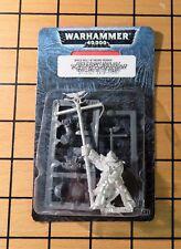 40k Rare oop Blister Metal Space Wolf Marine Standard Bearer NIB w Power Fist