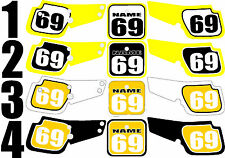 1990-1999 Suzuki RM80 RM 80 Number Plates Side Panels Graphics Decal