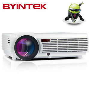 BYINTEK Android BT96 LED 1080P Video HDMI LCD Projector Best Home Theater