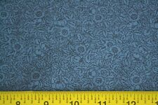 By 1/2 Yd, Black on Blue Quilting Cotton, Thimbleberries/Paint Box Up-Date, N775