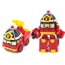 Red ROBOCAR POLI Deformation Police Robot Children's Car Toys Cartoon Gift