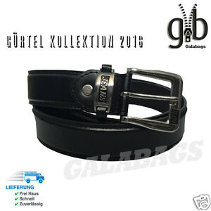 Herrengürtel LB19 hochwertiger PU Besatz | individuell kürzbar | 3,7 cm | black