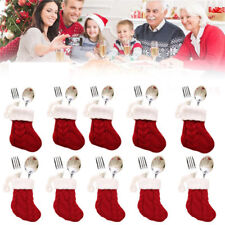 Christmas Gift Stocking Mini Sock Santa Claus Candy Bag Xmas Tree Hanging SH