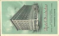Kankakee IL Hotel Kankakee Art Deco Promo Advertising Postcard