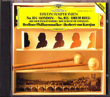 Herbert von KARAJAN: HAYDN Symphony 103 Drum Roll 104 London CD 1982 Sinfonien