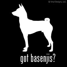 GOT BASENJIS? BASENJI DOG DECAL - DOGS STICKER