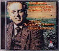 Daniel BARENBOIM: TCHAIKOVSKY Symphony No.5 & 1812 Overture CD Teldec Sinfonie