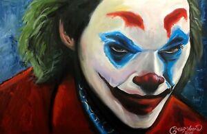 Joker Joaquin Phoenix ORIGINAL Acrylic Large Scale Painting