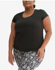 Yogatech Finishline Short Sleeve Training Plus Top Black Size 3X 0129