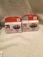 LOT OF TWO (2) Packages x 4 Cartridiges each UP & UP FIVE BLADE Cartridges = 8