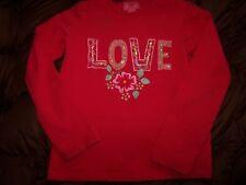 Room Seven Red TRUE LOVE Top Valentines Shirt 122 girls 6 7 VGUC sequins
