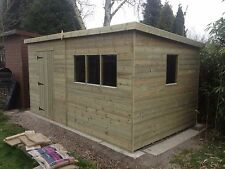 10 x 14 Pent shed / fully pressure treated FREE FITTING