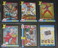 1991 Marvel X-Force Promo Set of 6 Cards, Cable, Deadpool+++ NM/M