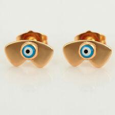18ct Gold Filled Blue Evil Eye Protection Stud Earrings UK Gift Idea