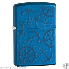 ZP12  ZIPPO  Anchors iced nautical Windproof Lighter  NEW 853987 boat