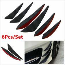 6x Carbon Fiber Car Front Bumper Canards Diffuser Lip Splitter Fins Accessories Fits Cayenne
