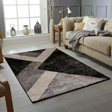 Modern Oxford Collection Small Extra Large Living Room Floor Carpet Rug Black