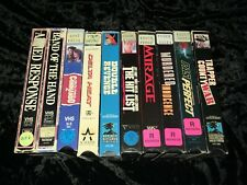 10 Cult Action/Thriller VHS Lot! RCA, LIVE, MCA! Past Perfect & Band of the Hand