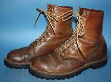 MENS VTG 60s RED WING IRISH SETTER BROWN LEATHER  WORK/BIKER CHUKKA BOOTS sz 9 D