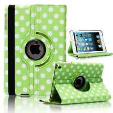 GREEN Fashion Dots Leather 360° Rotating Stand Case Cover For iPad 2/3/4 UK POST