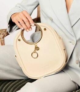 See By Chloe Mara Leather & Suede Shoulder Bag Colr:Cement Beige/Gold Hrdw~ LAST