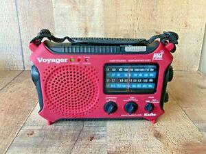 Kaito KA500L Emergency AM/FM/SW NOAA Weather Alert Radio with Flashlight Red