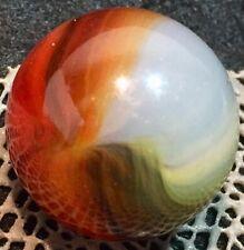 """Vintage Marbles Big,Bold Akro / Master (?) Oxblood Shooter 1""""Sunburst"""