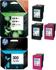 4x HP 300 ORIGINAL TINTE PATRONEN DESKJET D1660 D2560 D2660 D5560 F2420 F2480
