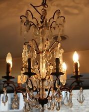 Crystal chandelier French decor Paris chandelier Opulence Sparkling chandelier