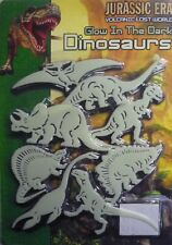 Jurassic Era Glow in the Dark Dinosaur Set 8 Great Dinosaurs & Mounting