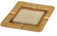 """VTG Ashtray Weeping Bright 22K Gold USA Hand Decorated 9"""" x 6"""" x 1.5"""""""