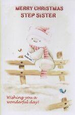 Merry Christmas Step-Sister - Xmas Card