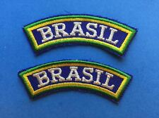 2 Lot Brazil Brazilian Jiu Jitsu Grappling Martial Arts Mma Uniform Patches 466
