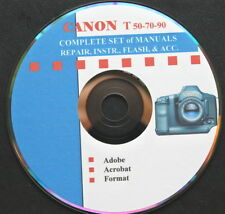 CANON T-50 T-70 T-90 Set of Repair & Instruction Manuals on CD  :o)