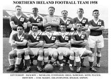 NORTHERN IRELAND FOOTBALL TEAM PRINT 1958 (BINGHAM/McILROY/GREGG/McPARLAND)