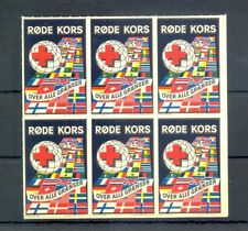 NORWAY 6 x POSTER STAMP - RED CROSS -IMPERF -** MNH VF @1