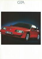 Renault GTA UK Market Brochure 1989 Inc V6 & V6 Turbo 1989 Excellent Condition