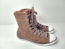 Chuck Taylor Women's 7.5 US Brown Leather High Top All Star Converse 6""
