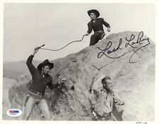 LASH LARUE SIGNED AUTOGRAPHED 8x10 PHOTO HOLLYWOOD WESTERN LEGEND PSA/DNA