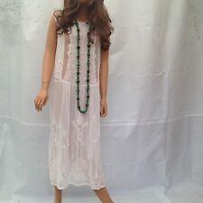 ZARA WHITE BEADED EMBROIDED MAXI DRESS, 20's STYLE FLAPPER DRESS, GREAT GATSBY