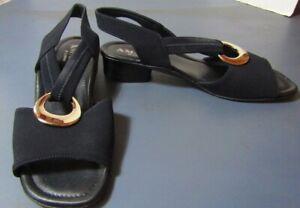 Amalfi Navy Fabric sandals 7.5