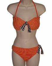 Cecilia Prado bikini size XL L orange bandeau swimsuit 2 piece women new