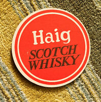 Very Old Beermat / Coaster  Haig Whisky from Sixties