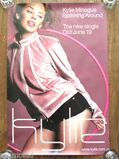 Very Rare Kylie Minogue Spinning Around 2000 Large Promotional Poster Fly